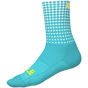 Alé Cycling Dots Chaussettes 16cm, turquoise-white